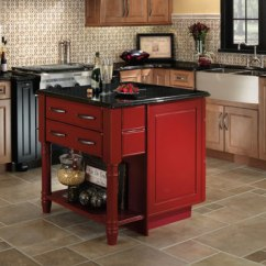 Red Kitchen Islands Pop Up Outlet Don T Be Afraid Of Color Kitchens Leigh Haven Cabinets Alberta Custom Island Cherry With Black