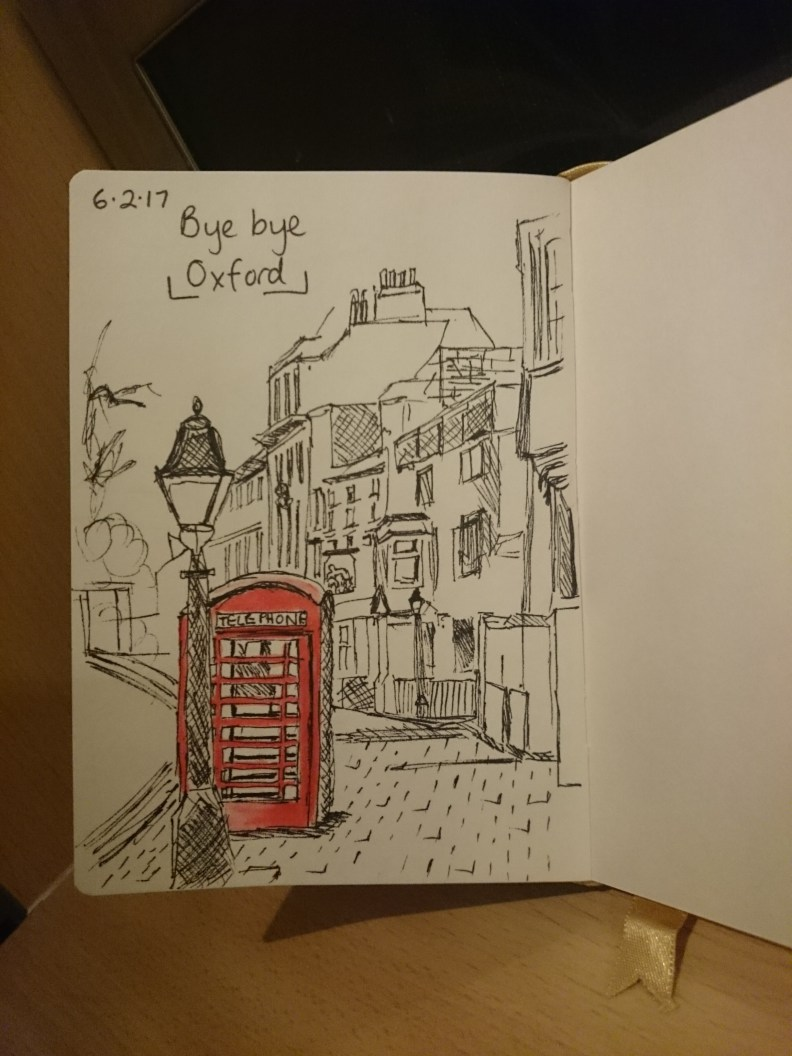 Ink drawing of central oxford