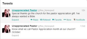 pastor appreciation tweet