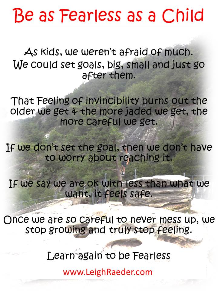 Be as Fearless as a Child