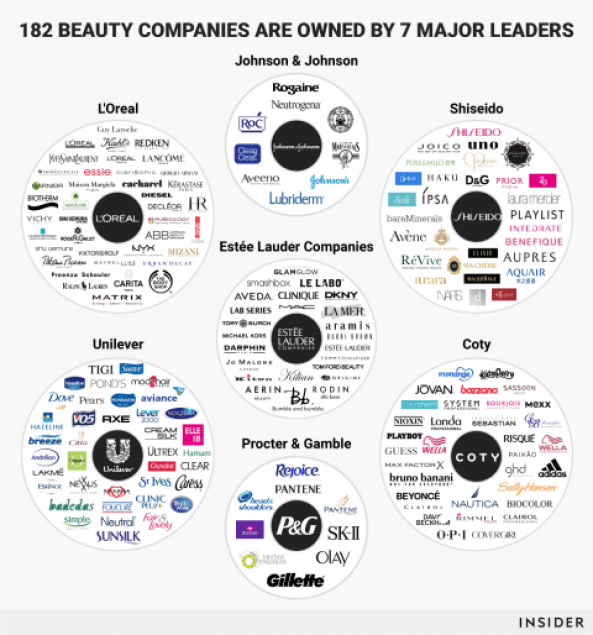 7 major leaders in beauty brands