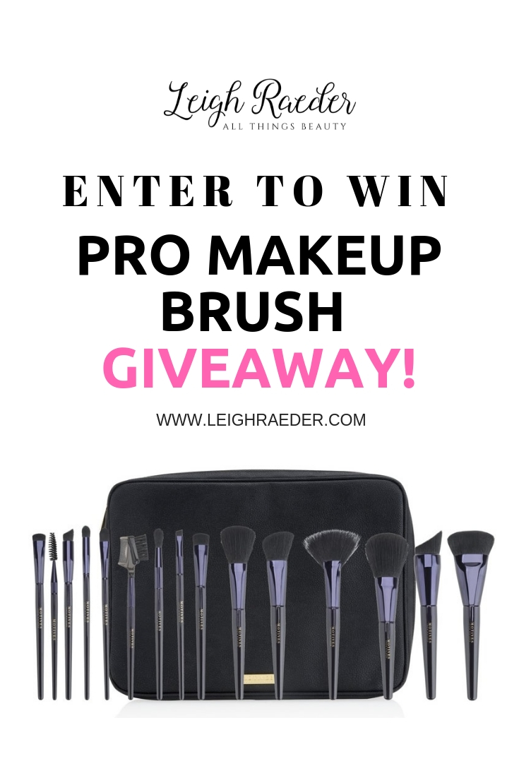 It's time for a giveaway! I love to give things away, and this time it is a Motives 15 piece Pro Makeup Brush Set valued at $149.95!