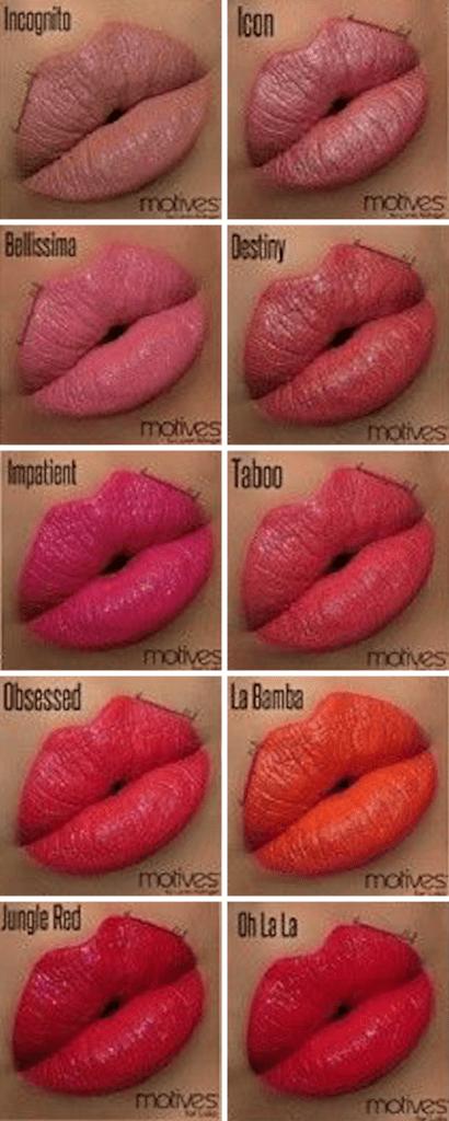 Motives Moisture Rich Lipstick Swatches