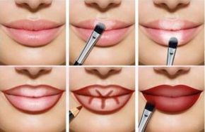 Lip Contouring with highlighter