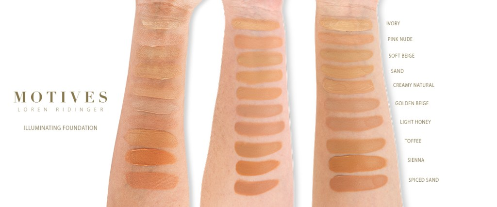 Illuminating Liquid Foundation Swatches