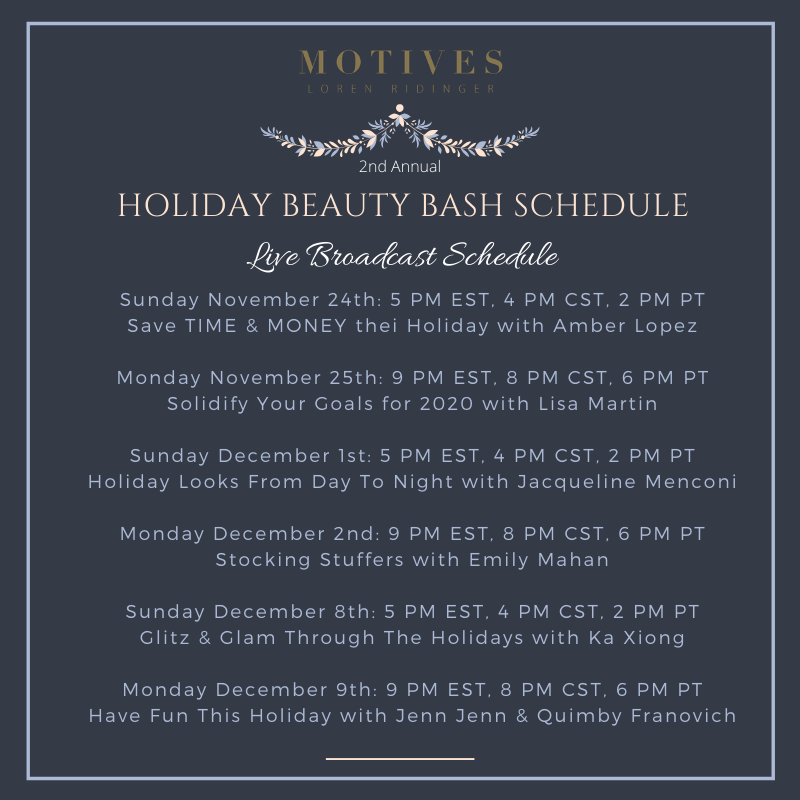 Motives Beauty Bash Schedule