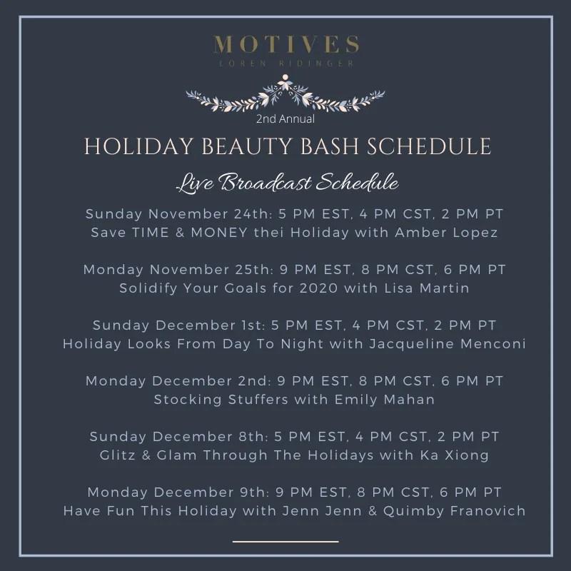 Motives Beauty Bash Schedule