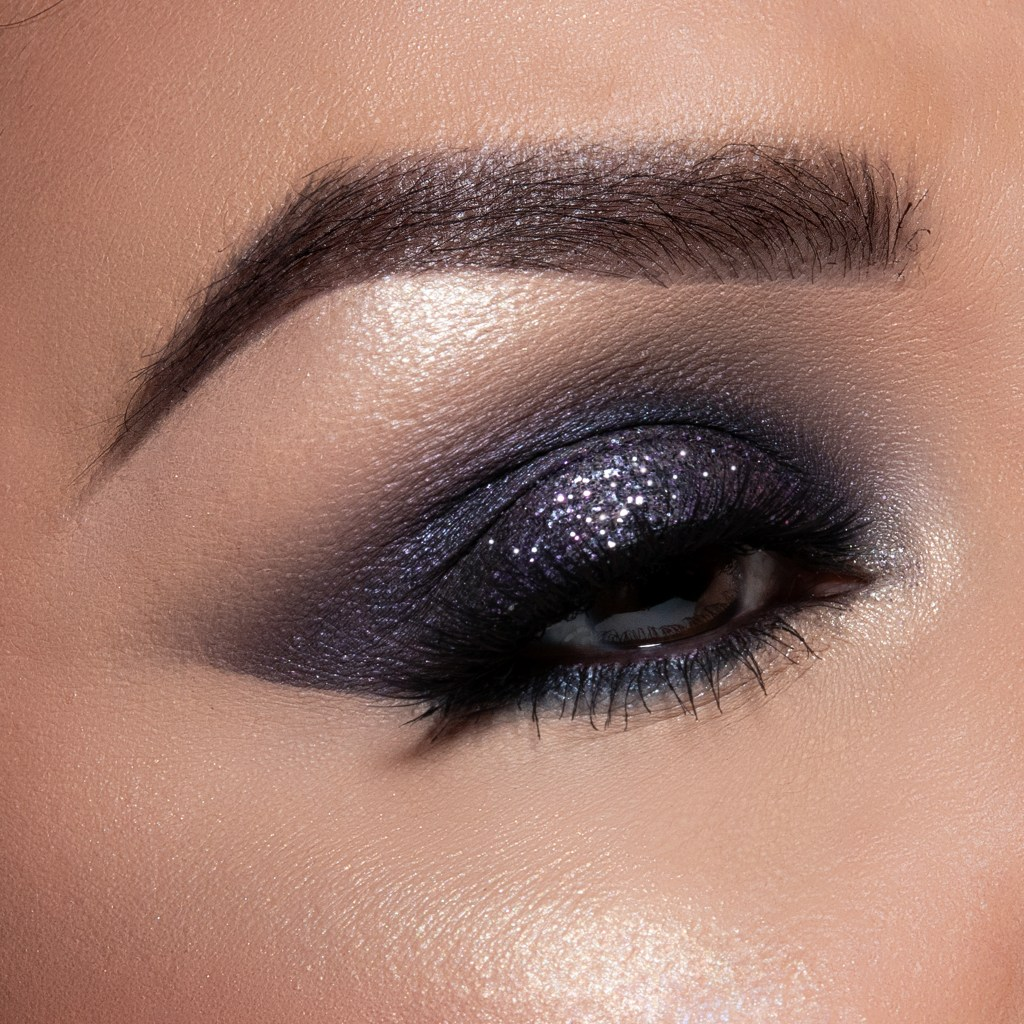 New Year's Eve Glitter Eye Look