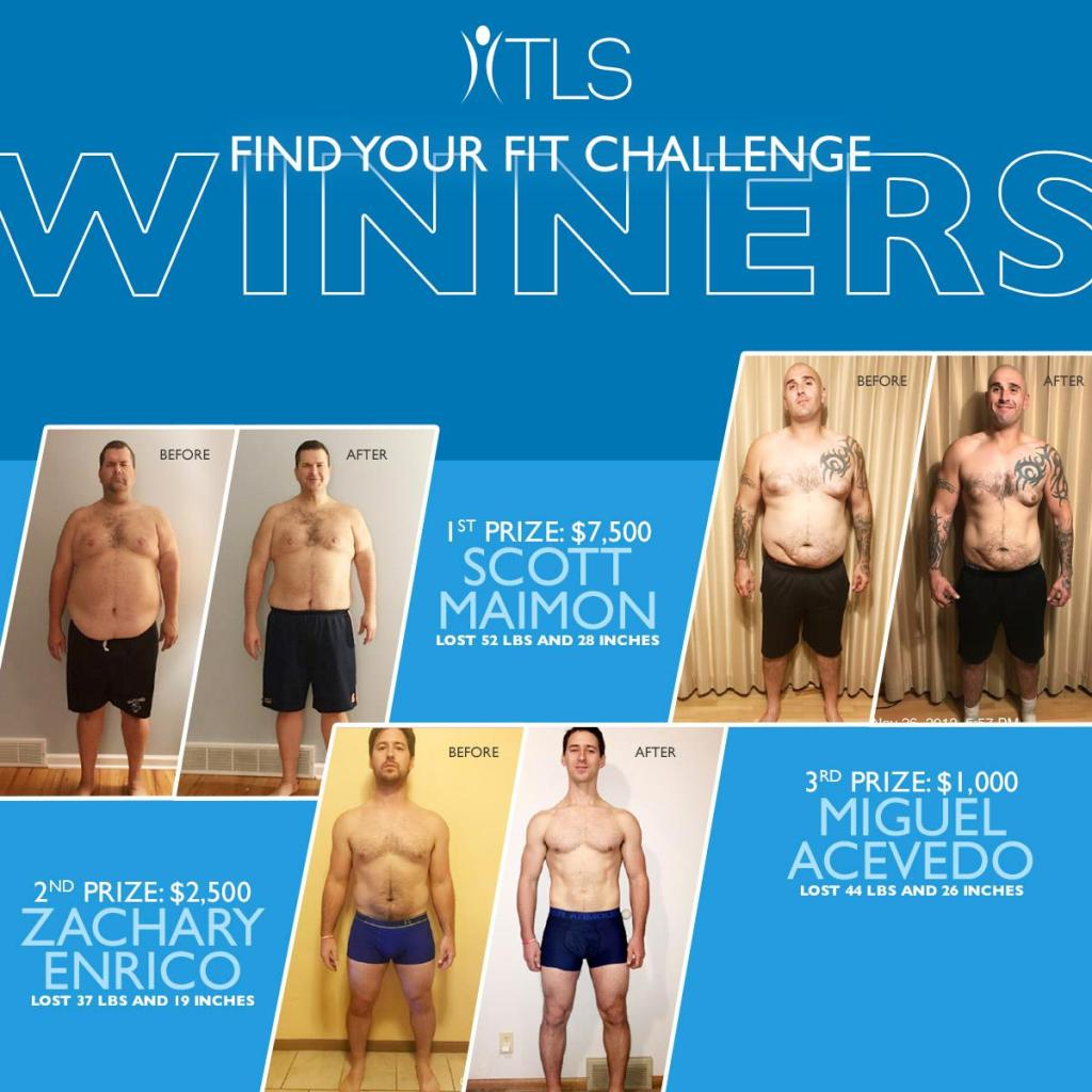 TLS 21 day weightless challenge men winners