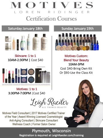 Makeup and Skincare Certification Courses in Wisconsin