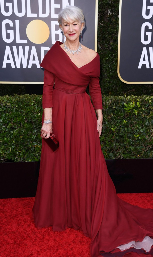 Helen Mirren Golden Globe Red Carpet Makeup