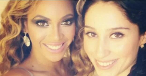 Jackie Gomez with Beyonce