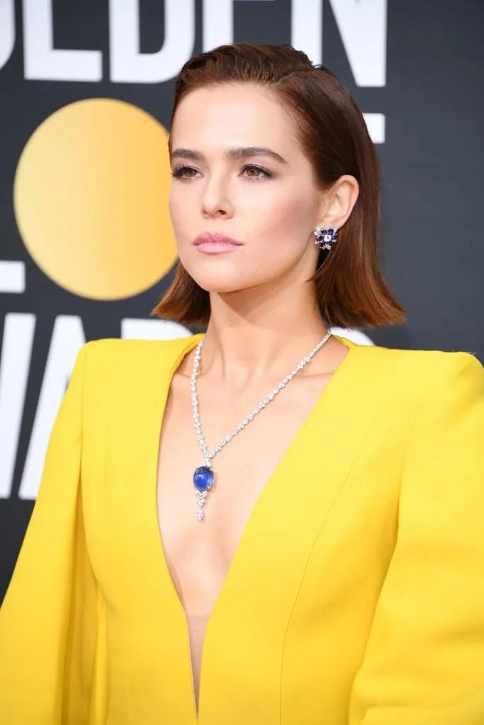 Zoey Deutch Golden Globes Red Carpet Makeup