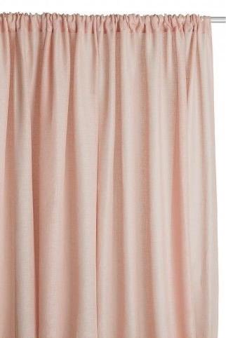 Habitat Pink Linen Curtains