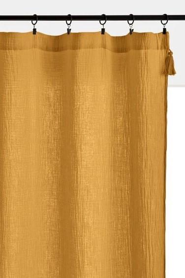 La Redoute Mustard Readymade Curtain