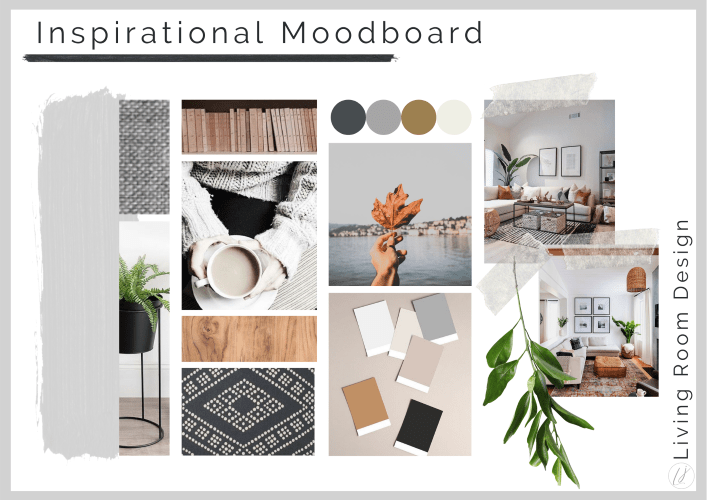 Interior design moodboard with inspirational images