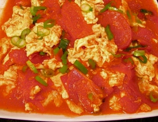 Fanqie Chao Dan Stir fried tomato and scrambled eggs