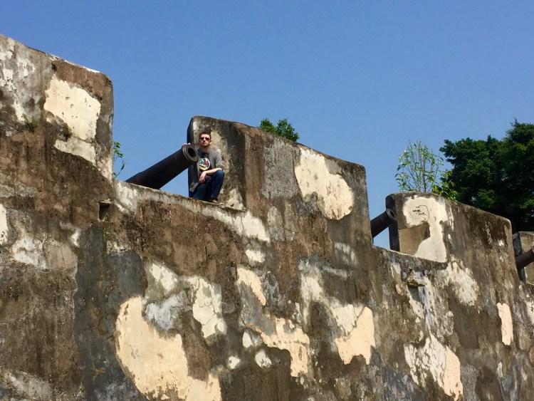 Cannon battlements Monte Fort Macau