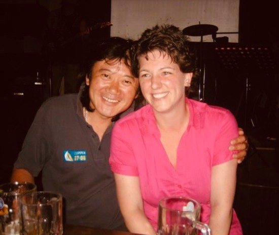 Steven the owner of Lennon Bar Qingdao Shandong Province China