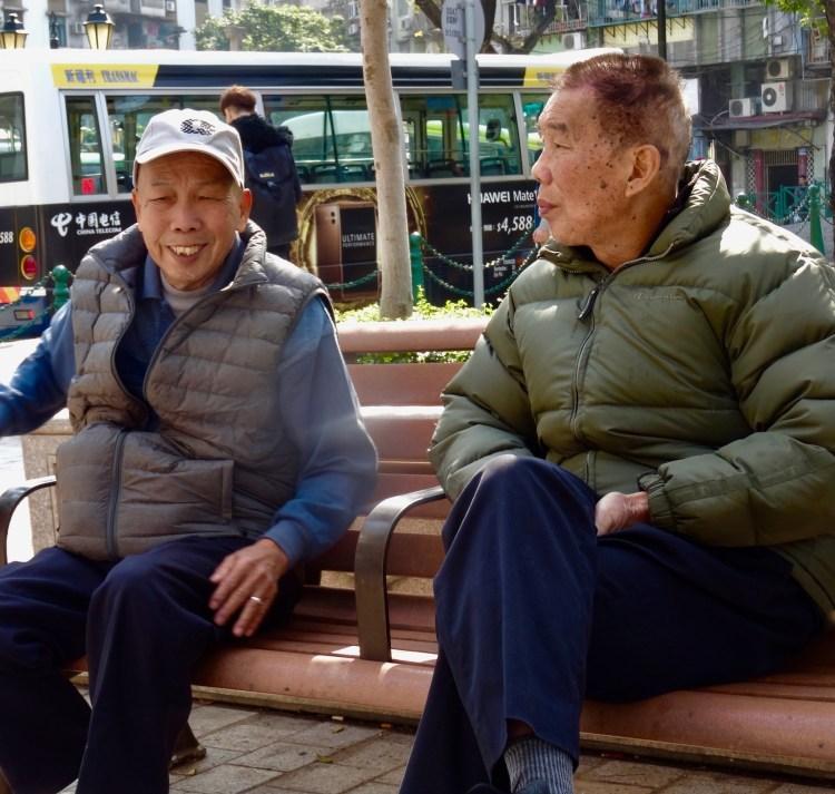 Old men Camoes Garden Macau
