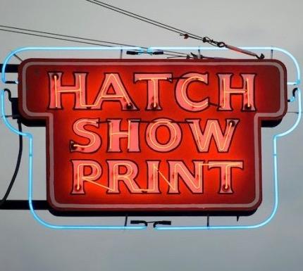 Hatch Show Print exterior sign Nashville Tennessee