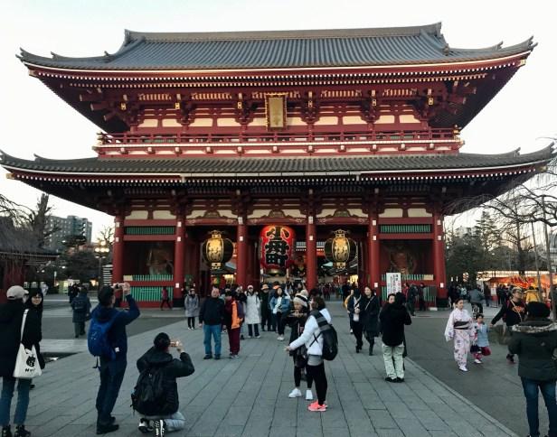 Main hall Sensoji Temple Tokyo