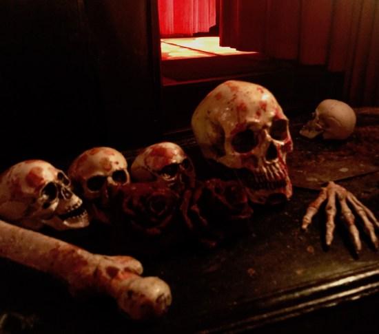 Skulls and bones The Vampire Cafe Tokyo