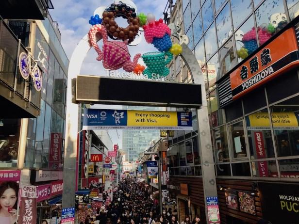 Sunday afternoon Takeshita Street Harajuku Tokyo