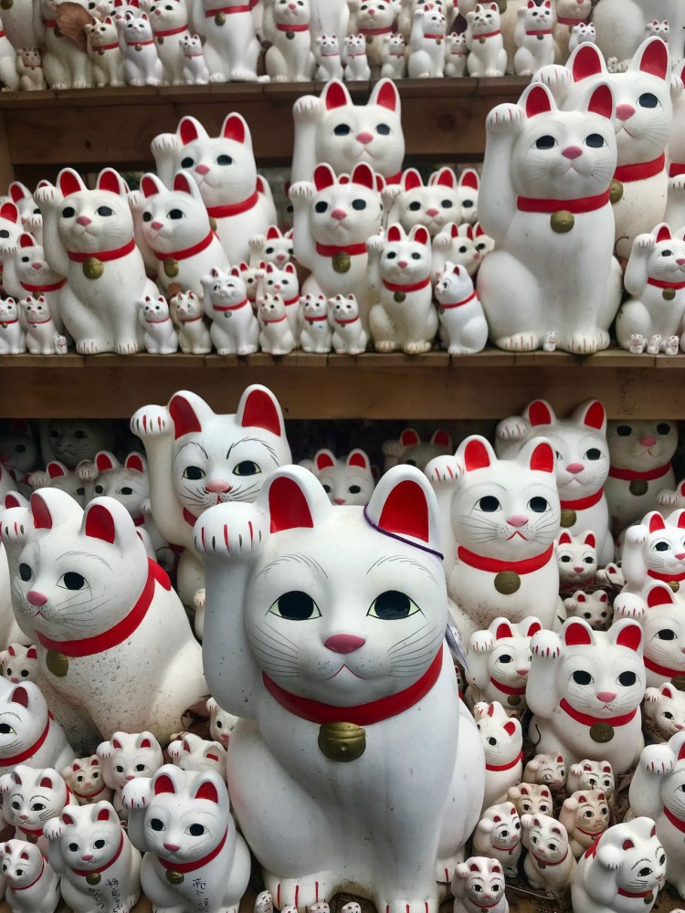Cat army Gotokuji Temple Cat Waving Temple Tokyo.