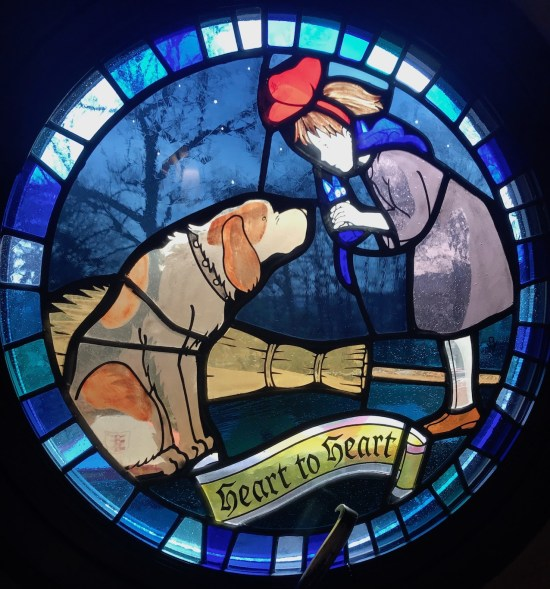 Kiki's Delivery Service Stained glass window The Ghibli Museum Tokyo