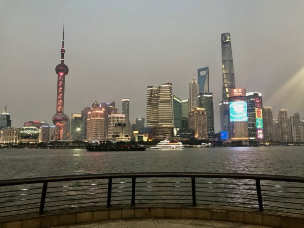 The Pudong by night Shanghai China.