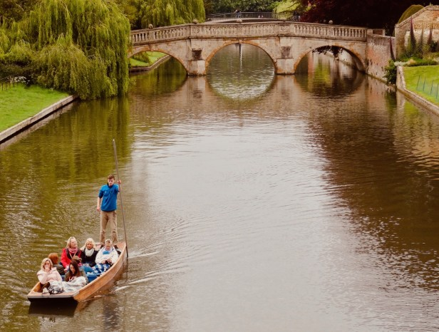 King's Bridge on the River Cam Cambridge.