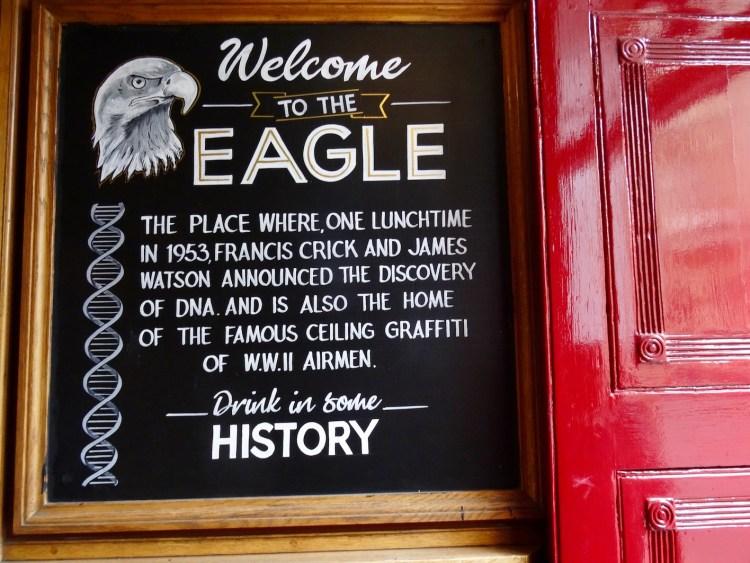 Welcome to The Eagle Pub Cambridge.