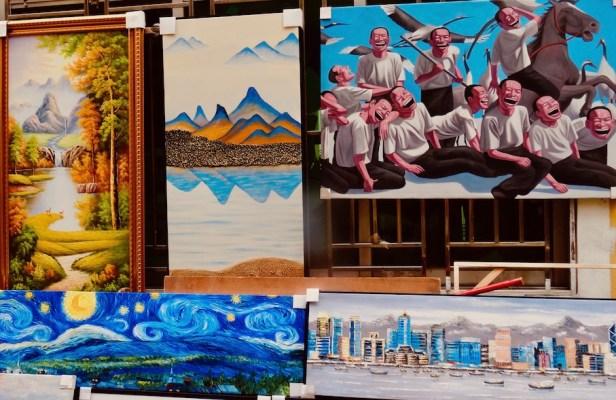 Dafen Oil Painting Village Shenzhen China.
