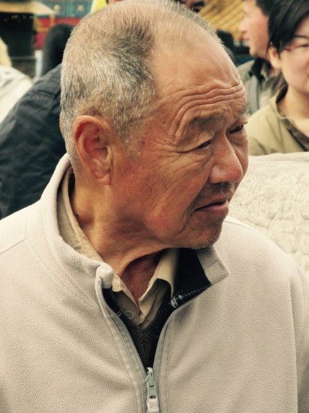 Old Chinese man The Forbidden City Beijing.