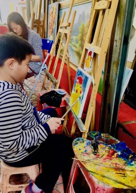 Painting workshop Dafen Oil Painting Village Shenzhen.