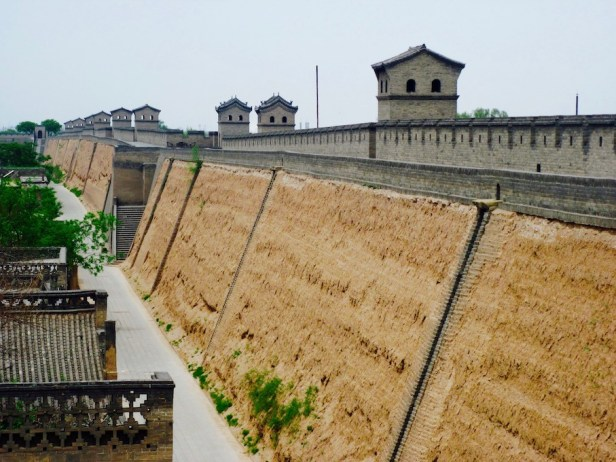 The ancient city walls of Pingyao.