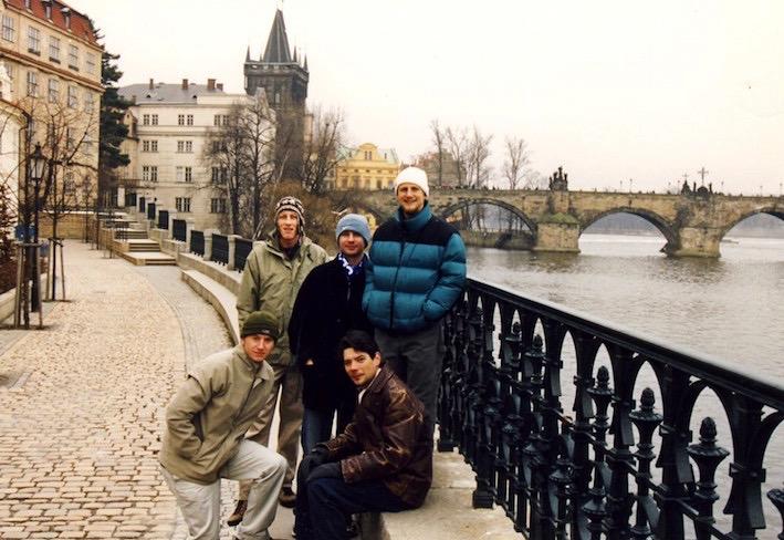 Charles Bridge Prague December 2002.
