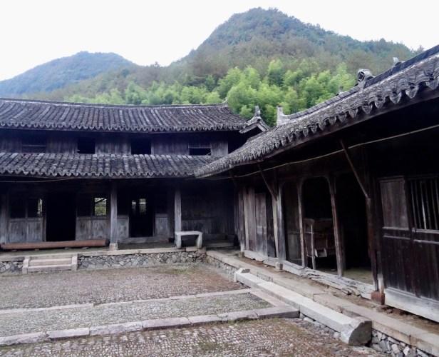 Courtyard Xu Ao Di Village Taishun County China.