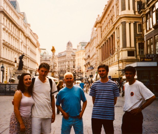 Graben Shopping Street Vienna Austria.