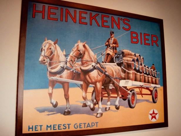 Antique Heineken Beer Poster Heineken Experience Amsterdam.