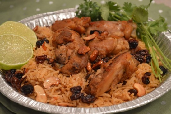 Arabic style chicken and rice.