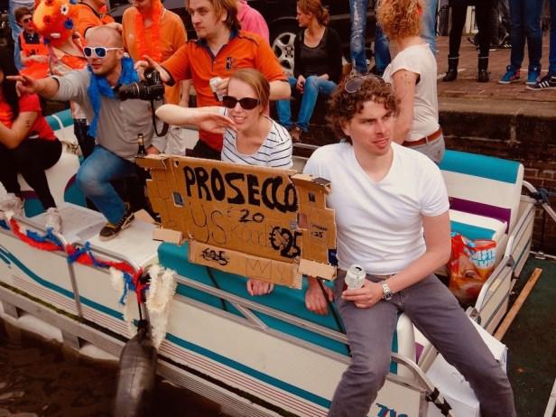 Prosecco for sale Queen's Day Amsterdam.