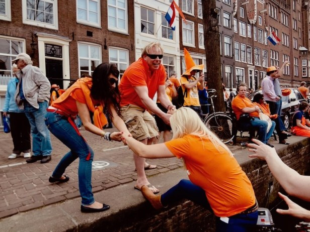 Watch your step Queen's Day Amsterdam.