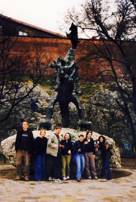 Wawel Dragon Statue Krakow.