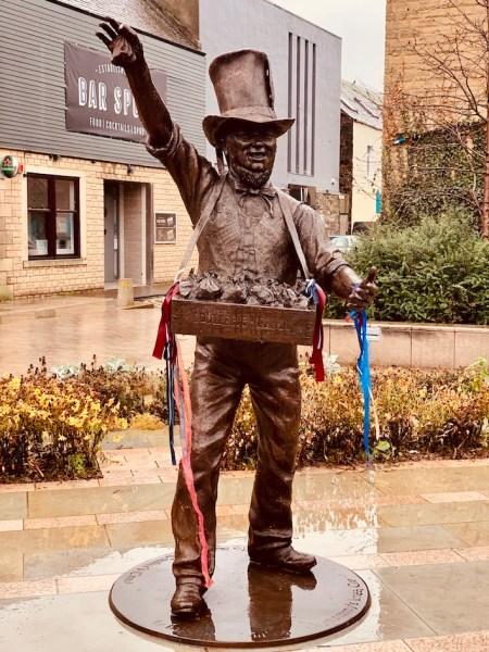 Robert Coltart Coulters Candy statue Galashiels Scotland.
