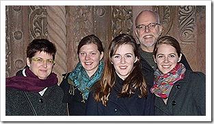 Angela, Anna, Olivia, David, Rachel