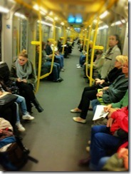 Our twice daily trip on the Berlin subway