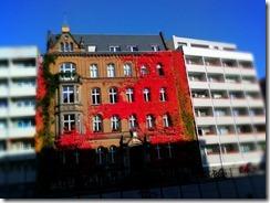 Beautiful building left unbombed between modern structures