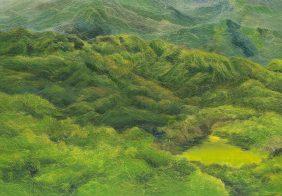 仲夏晨光 I, Mid Summer Glim I, 210 x 300.5 cm, oil on canvas, 2016